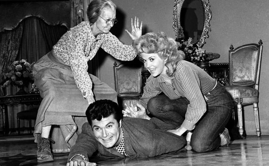 Irene Ryan, Max Baer Jr, and Donna Douglas in The Beverly Hillbillies