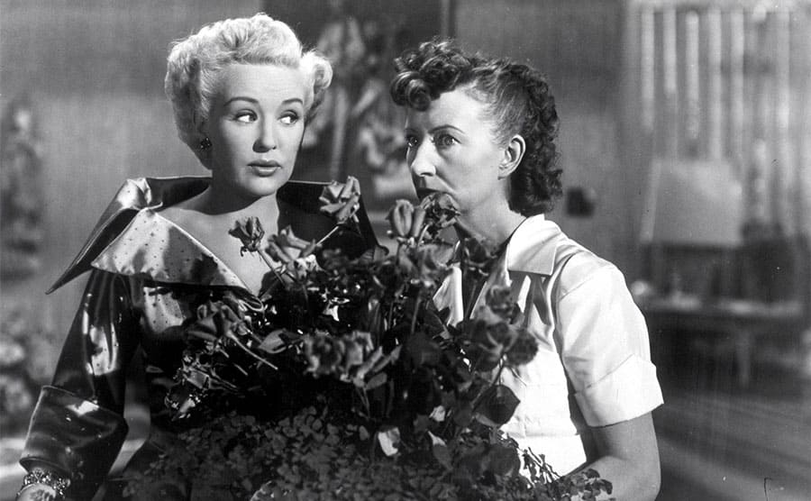 Betty Grable and Irene Ryan in 'Meet Me After The Show' 1951.