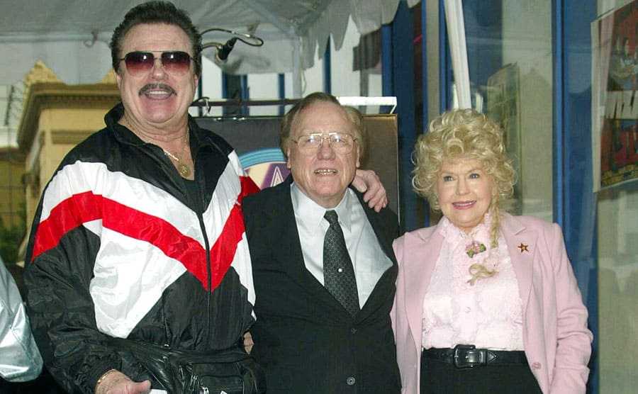 Max Baer Jr with Earl Scruggs and Donna Douglas on the red carpet in 2003