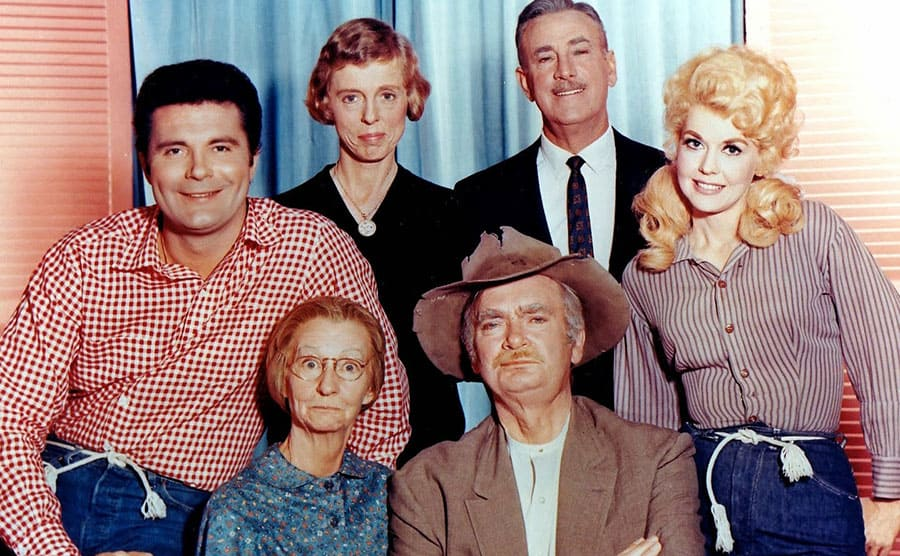 Raymond Bailey surrounded by co-stars