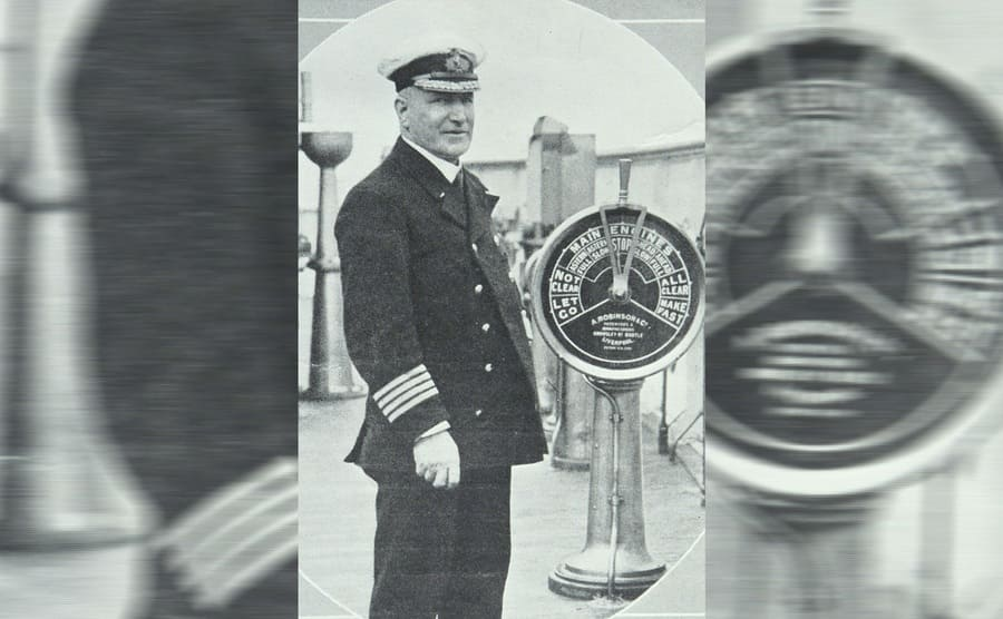 Captain Turner standing on a ship