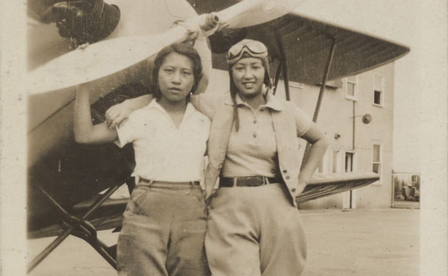 Two female Chinese American pilots