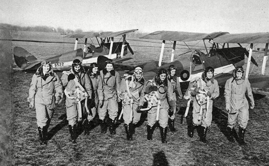 A photograph of female pilots in training