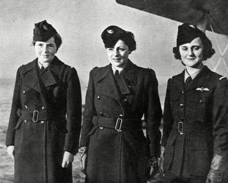 Three female pilots of the Air Transport Auxiliary Service