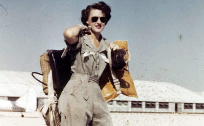 Lillian Yonally at Avenger Field in Texas.