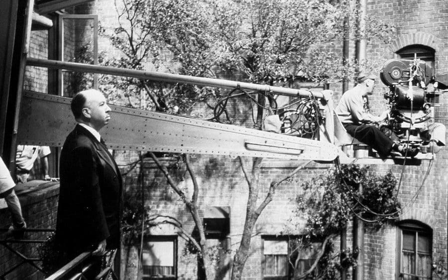 Film Stills of 'Rear Window' With 1954, Behind the Scenes, Alfred Hitchcock in 1954