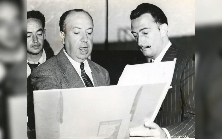 Salvador Dali, Alfred Hitchcock.