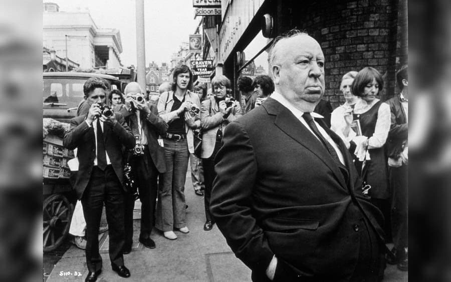 Film Stills of 'Frenzy,' Alfred Hitchcock in 1972