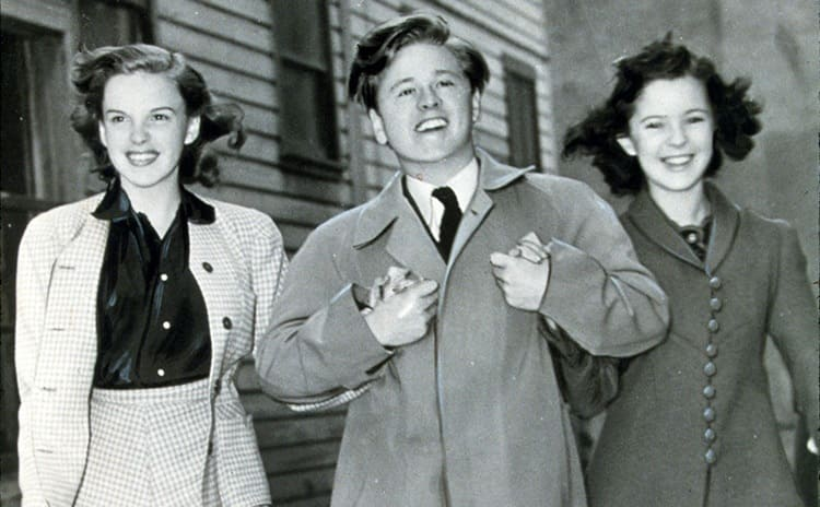Judy Garland, Mickey Rooney, and Shirley Temple