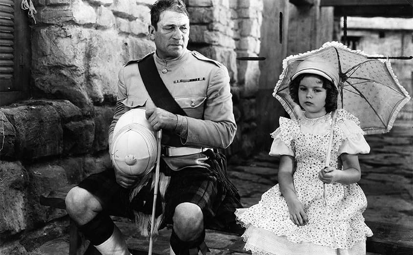 Victor McLaglen and Shirley Temple in Wee Willie Winkie 1937
