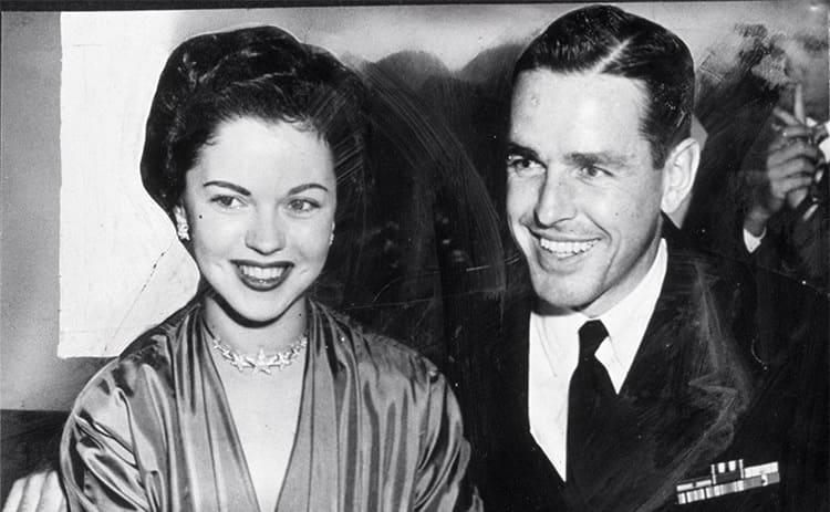 Shirley Temple and Charles Black circa 1952.