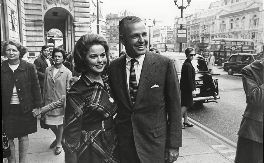 Shirley Temple and her husband in the 1960s.