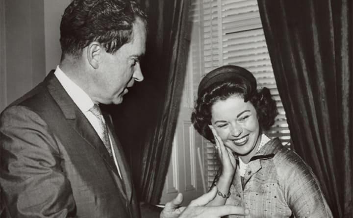 President Richard Nixon and Shirley Temple