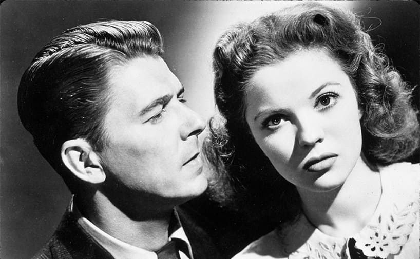 Ronald Reagan and Shirley Temple in That Hagen Girl.