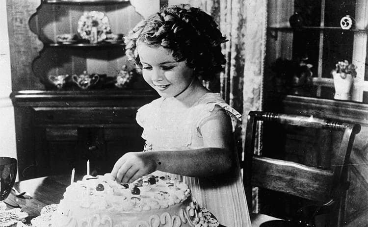 Shirley Temple on her 8th birthday in 1937.