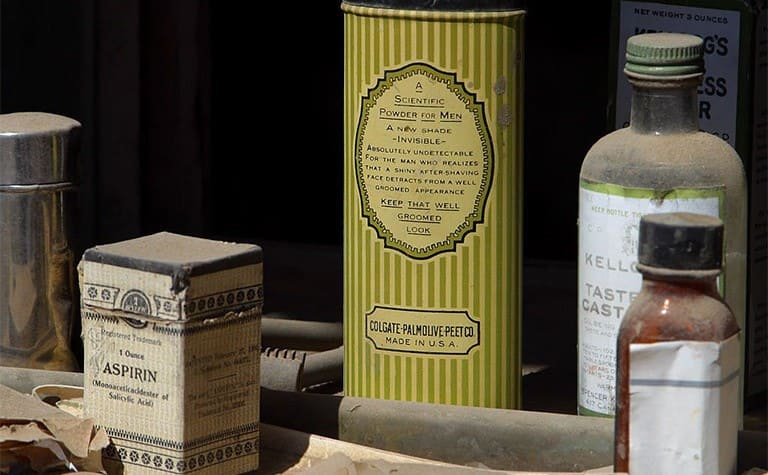 Old medicines and soaps