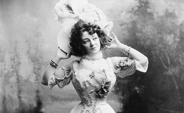 Anna Held, an actress from the late 1800s.