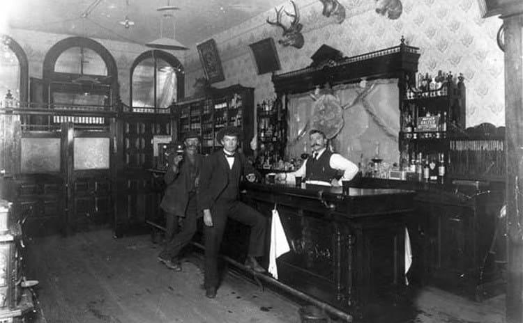 An old western saloon