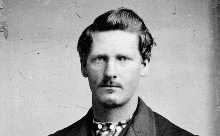 Wyatt Earp with nice combed hair and a cleaned-up mustache