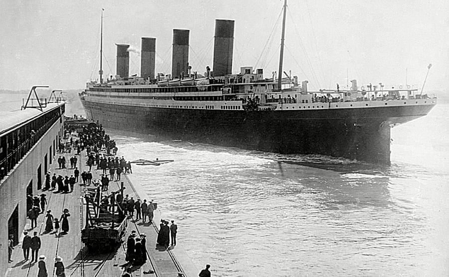 The RMS Olympic leaving Southampton