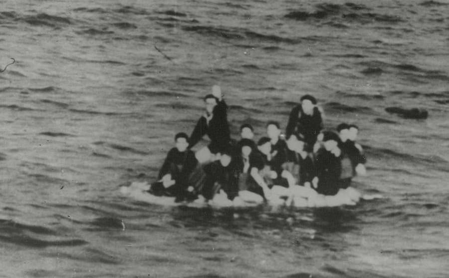 Italian survivors of the Matapan sea engagement