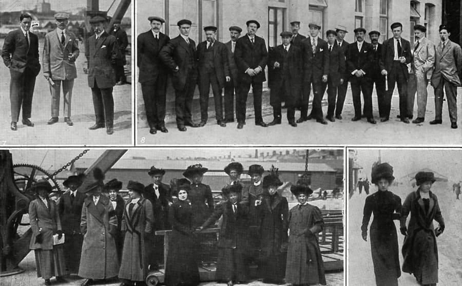 Various Titanic survivors' photographs