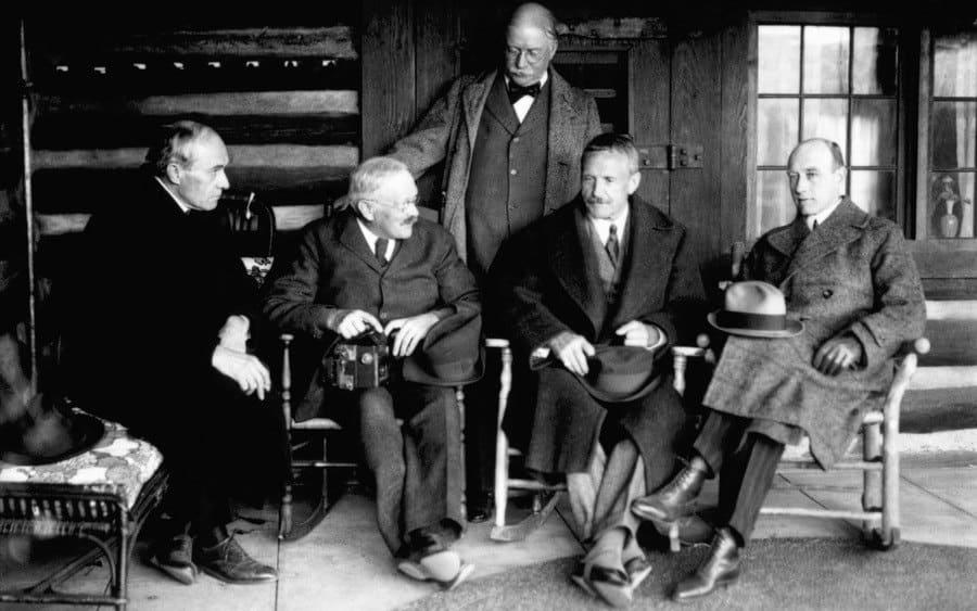 Carl Akeley, Raymond Ditmars, Carl Lumholtz, and Roy Chapman Andrews