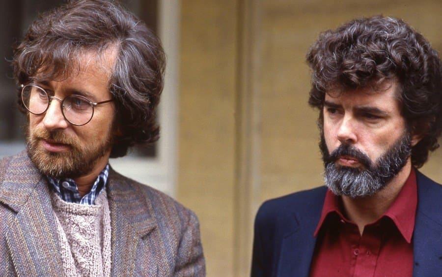 Steven Spielberg and George Lucas, 'Raiders of the Lost Arc' film premiere, London, UK - 1982
