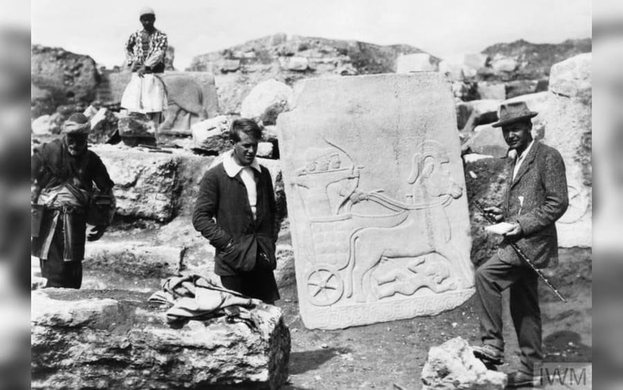 Sir Leonard Woolley with Lawrence of Arabia during the excavations at Karkemish, near Aleppo in Syria.