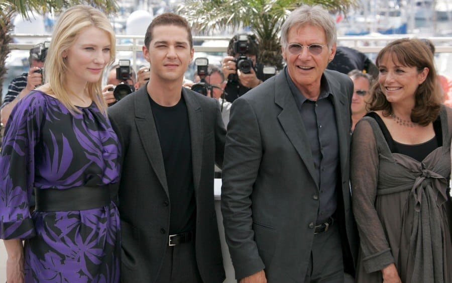 Cate Blanchett, Shia LaBeouf, Harrison Ford, and Karen Allen