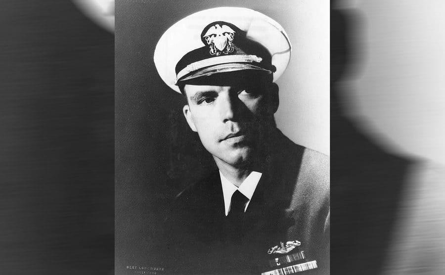 Dudley Mush Morton in his Navy uniform