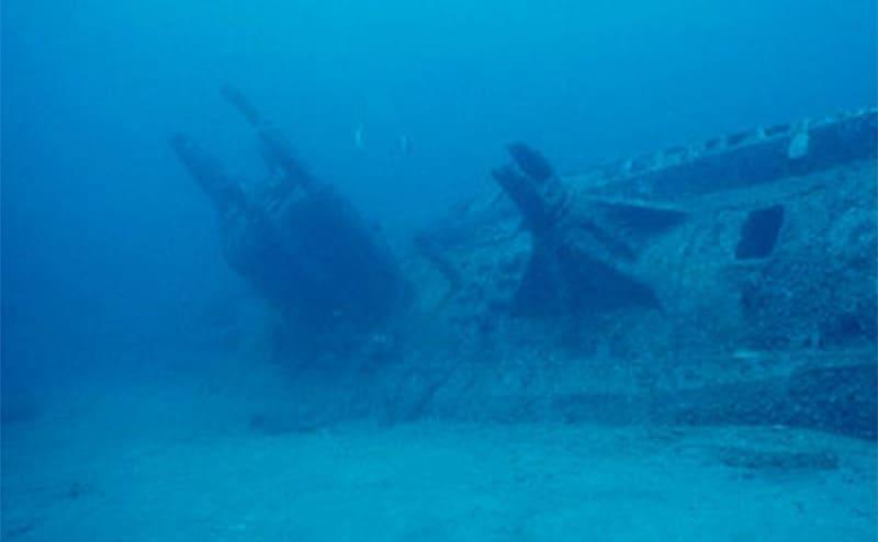 The sunken USS Wahoo