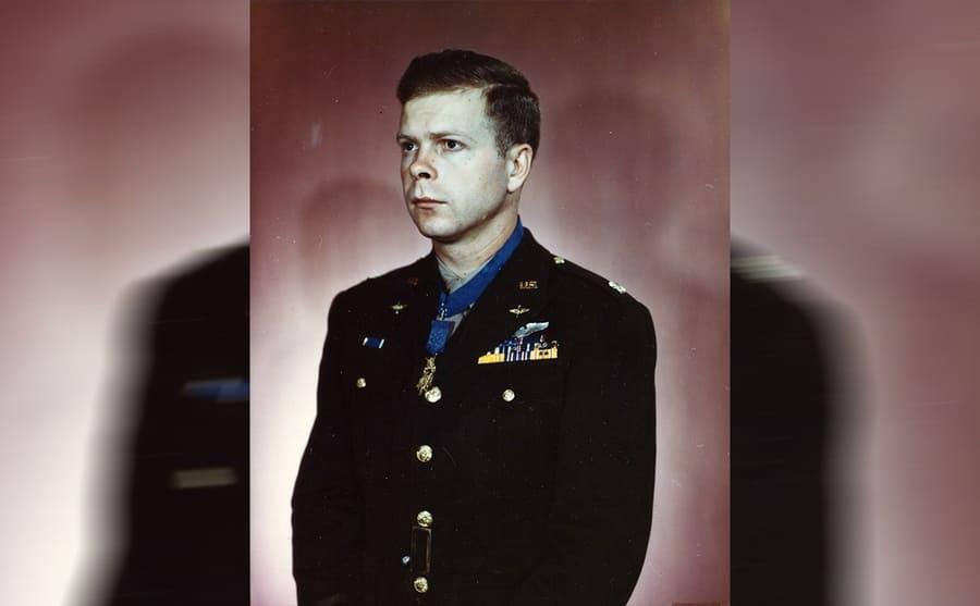 Richard Bong in his uniform