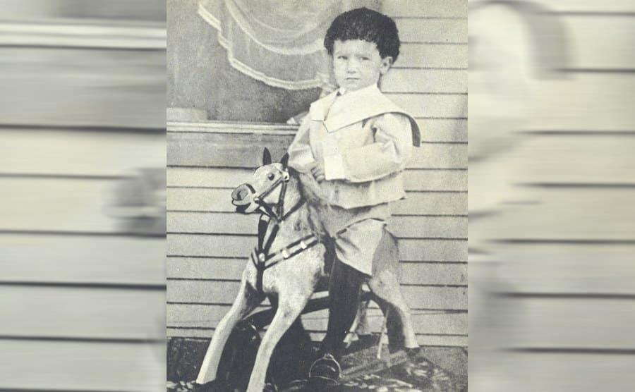 Ernie Pyle as a child