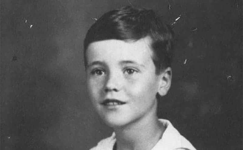 A portrait of Jack Lemmon at age 5