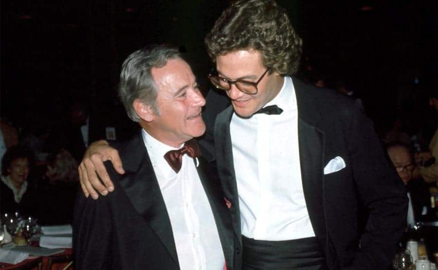 Chris Lemmon hugging his father