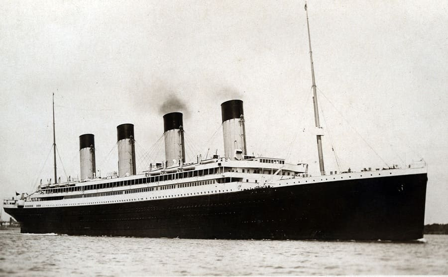 The RMS Olympic cruise ship of the White Star Line