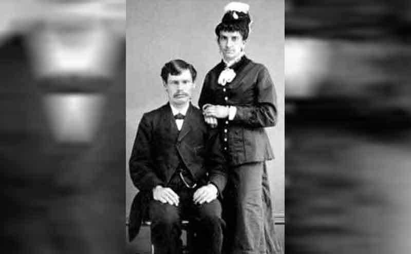 Doc Holliday and Mary Katherine Horony posing together