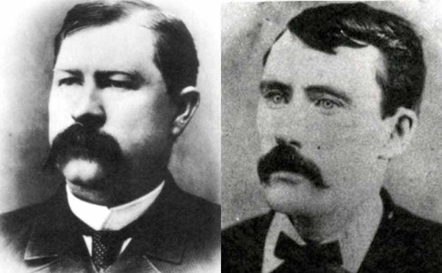 A portrait photograph of Virgil Earp / A portrait photograph of James Earp