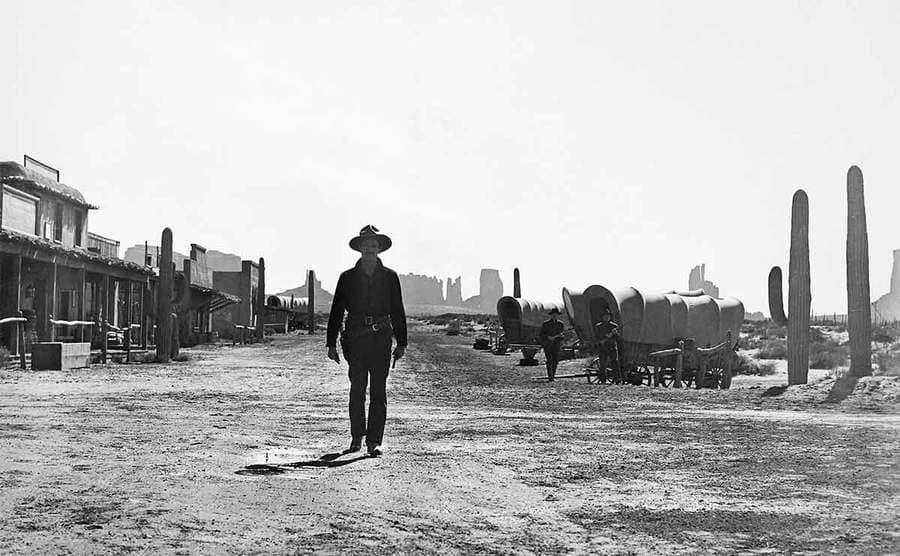 Henry Fonda as Wyatt Earp walking to the gunfight