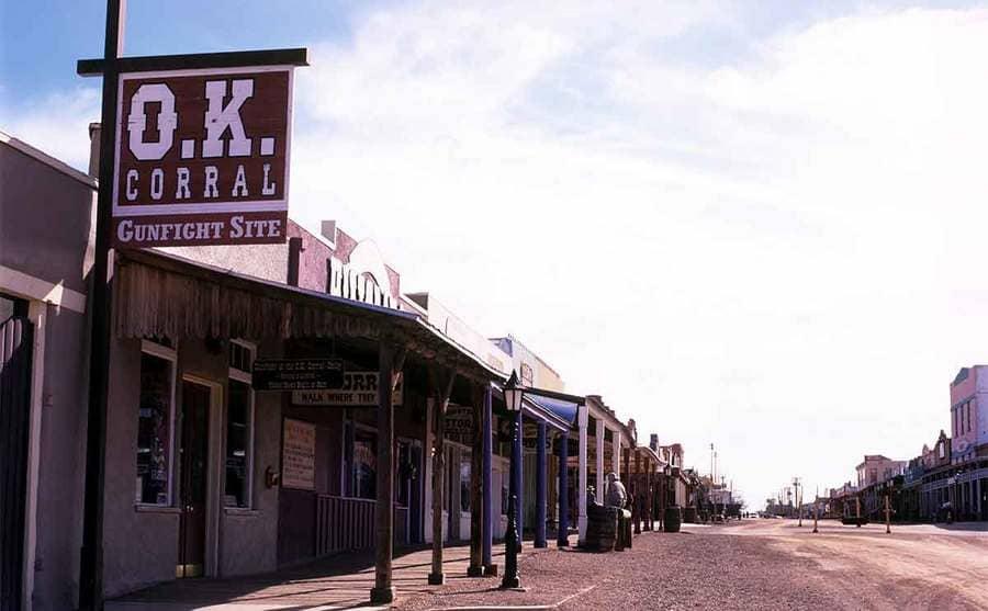 The O.K. Corral gunfight site in Tombstone Arizona