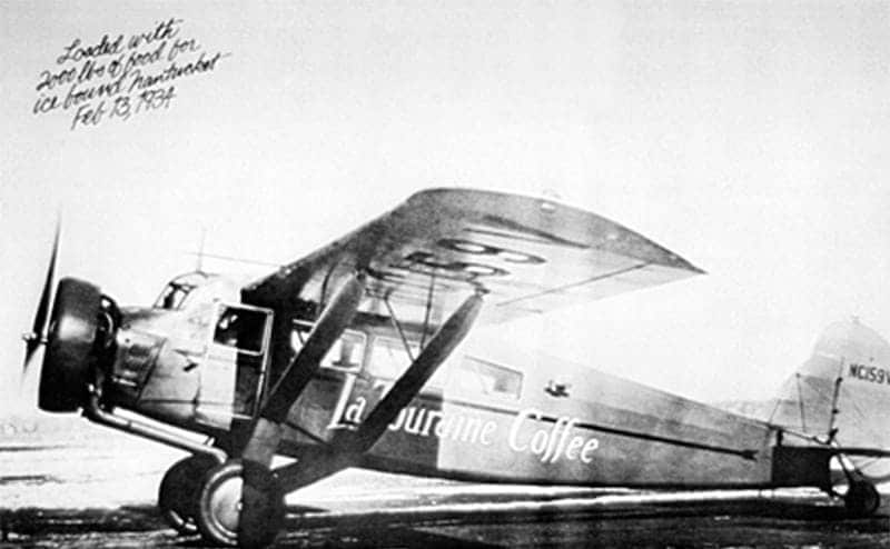 The airplane used in 1929