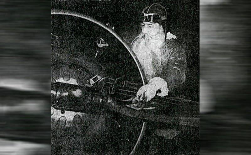 Captain Wincapaw dressed as Santa