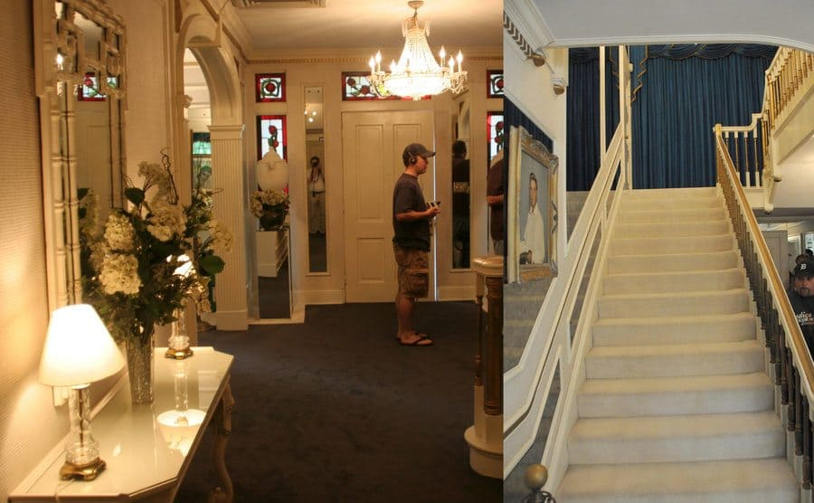 The entrance hall of Graceland / Looking up the staircase in the entrance hall of Graceland