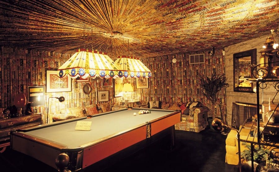 The pool table room