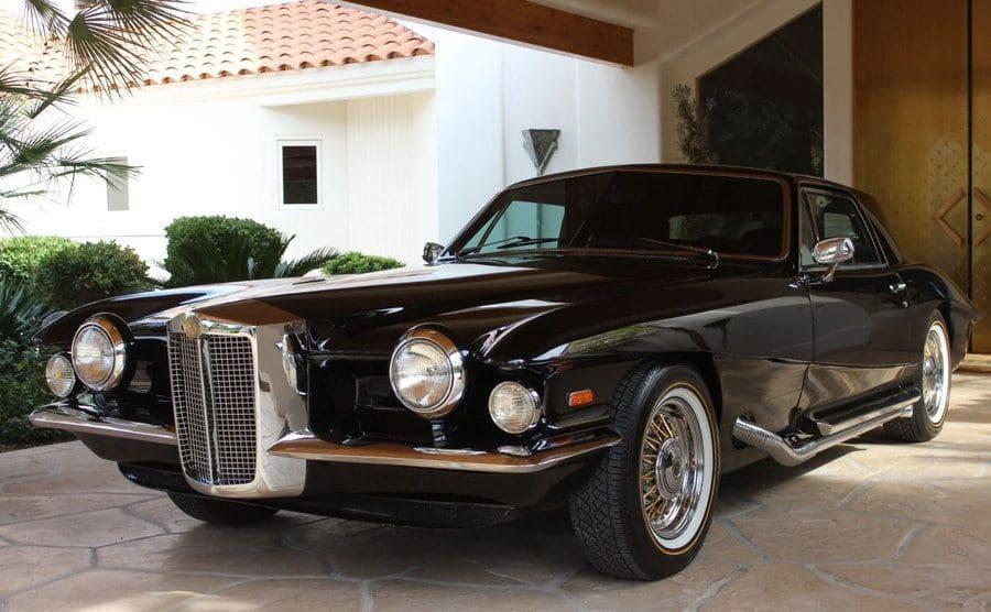 Elvis' Blackhawk car parked in a driveway