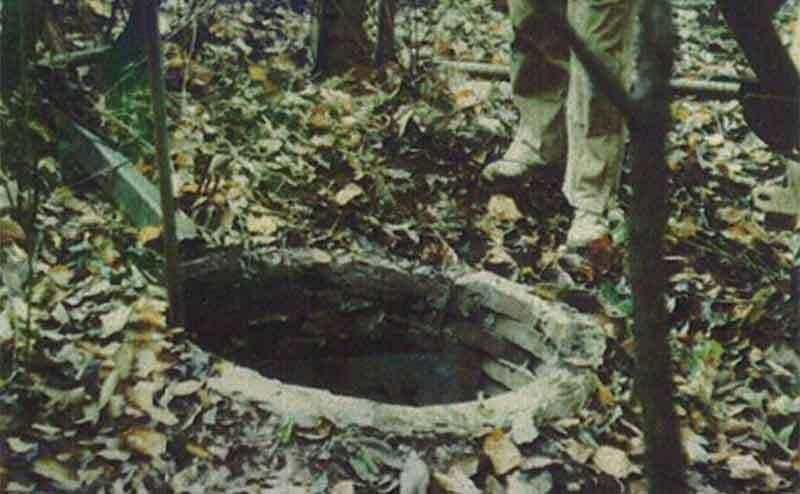 An old fallen well