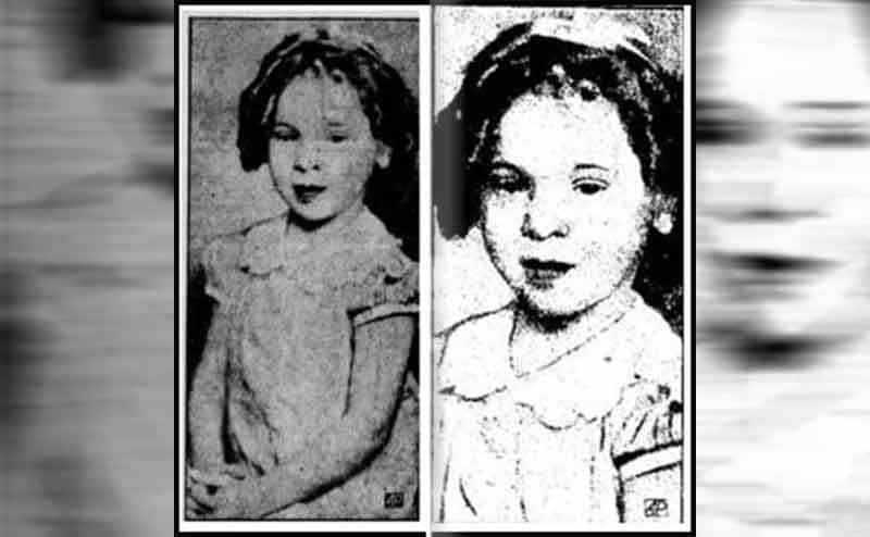 Two photographs of Marjorie as a young girl