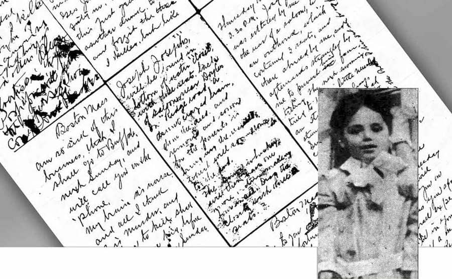 A photograph of Joseph Joseph who went missing and the postcards that led to the crime scene