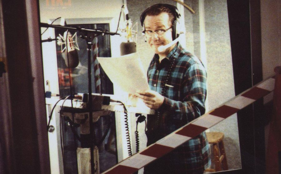 Phil Hartman in a recording room on Saturday Night Live